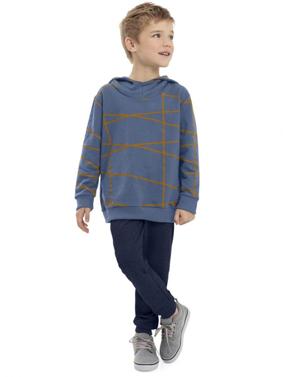 Conjunto Infantil Blusão com Capuz e Calça Azul Quimby