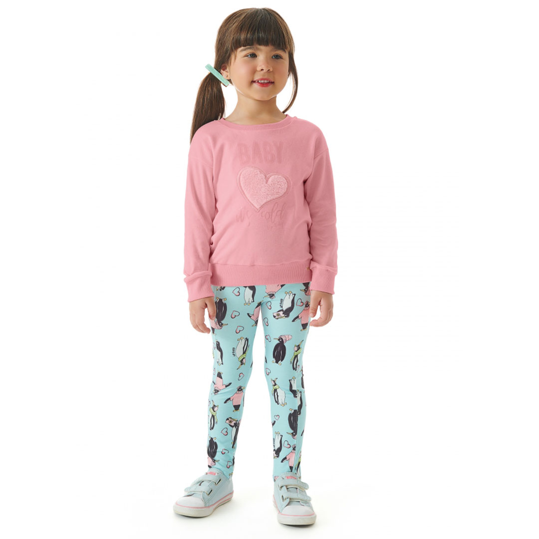 Conjunto Infantil Blusão Molecotton e Legging Rose UpBaby
