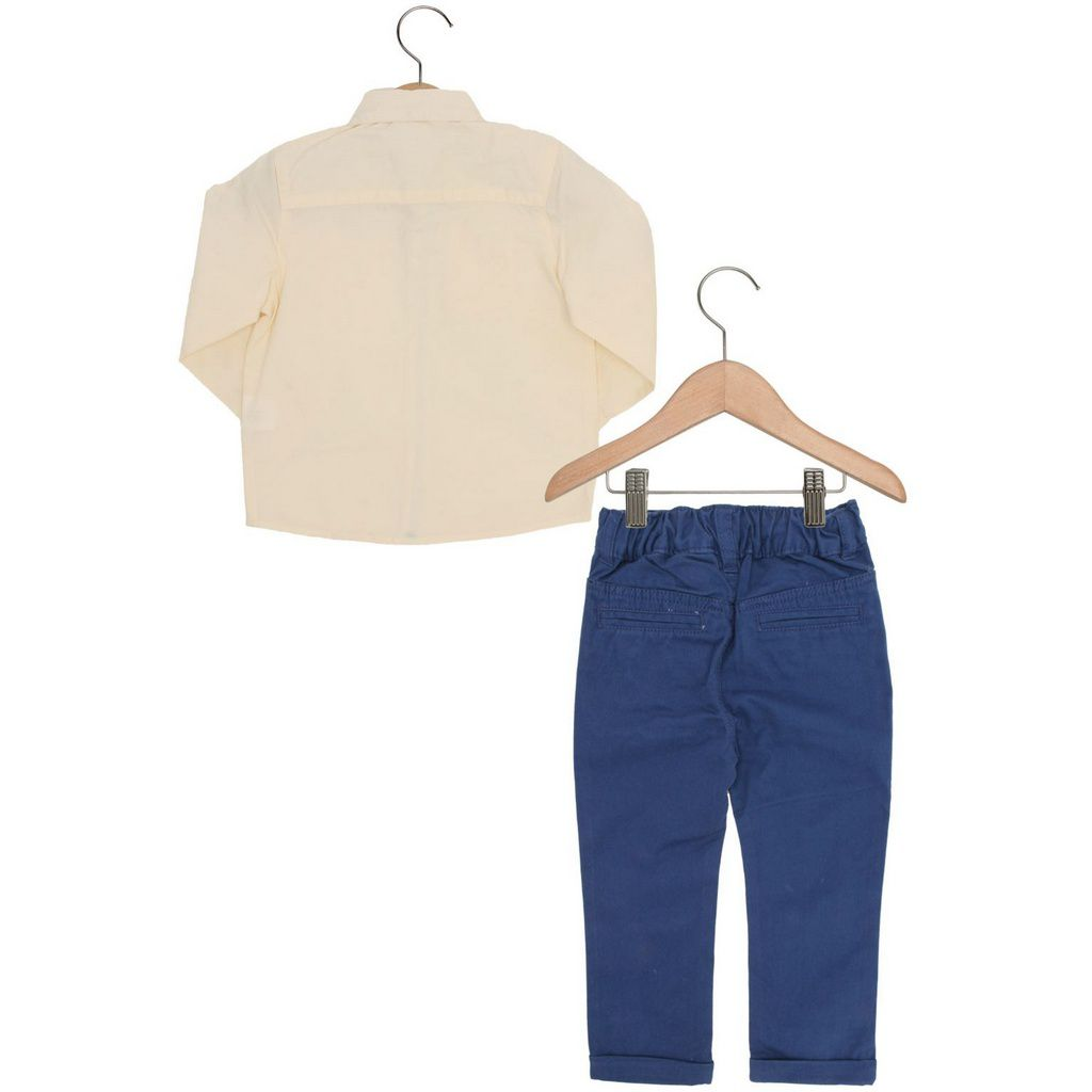 Conjunto Bebê Camisa com Calça Sarja Azul Carinhoso