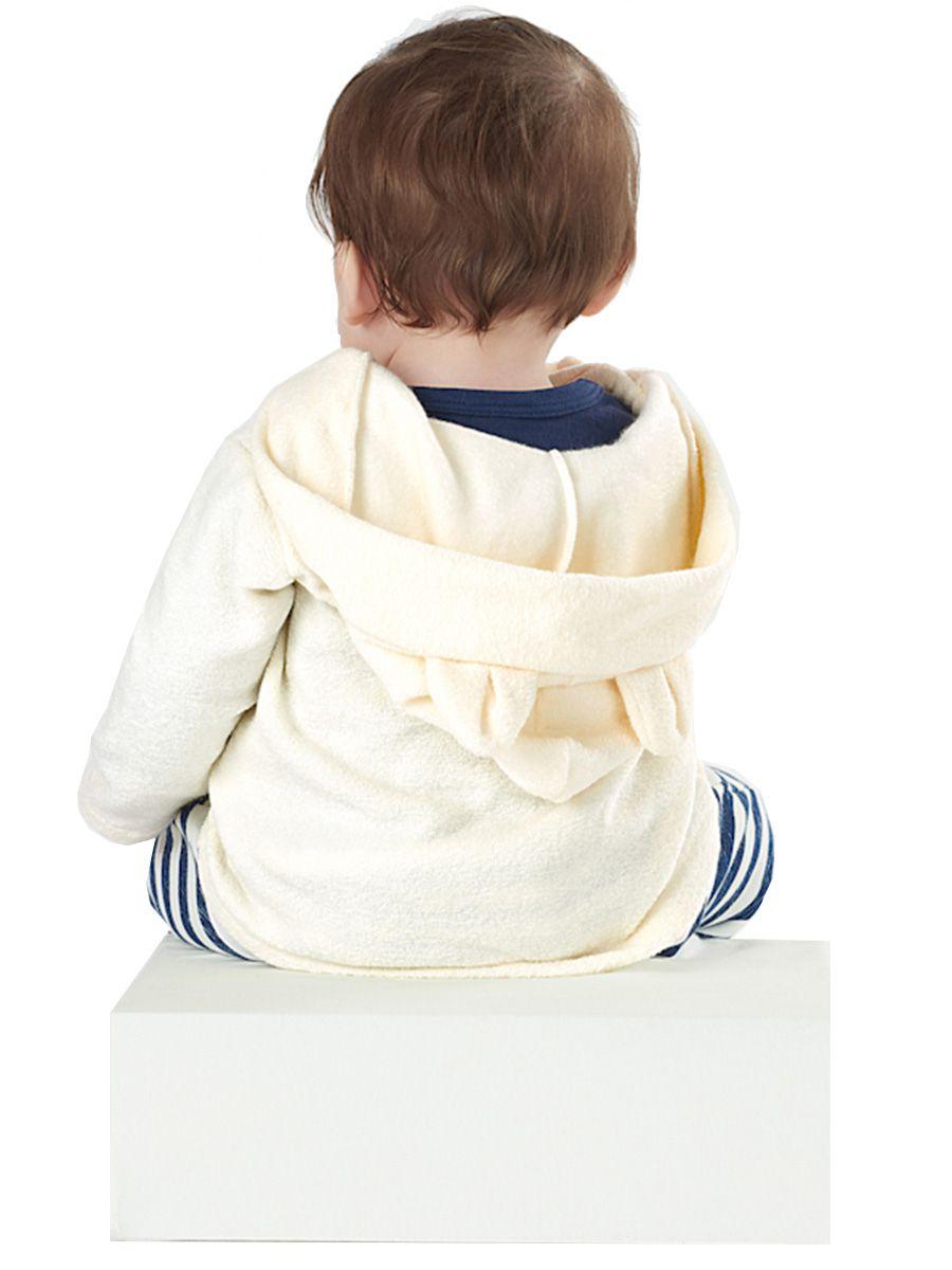 Conjunto Bebê Casaco com Capuz e Calça Moletom Natural Up Baby