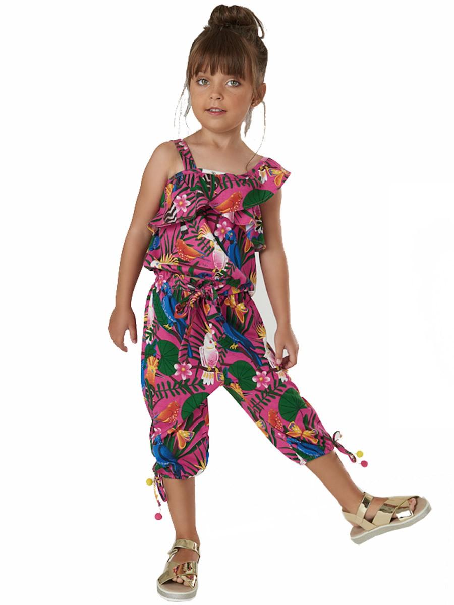 Conjunto Infantil Blusa e Calça Pássaros Tropical Up Baby
