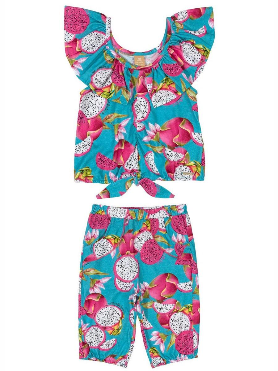 Conjunto Infantil Blusa e Calça Pitaya Azul Up Baby