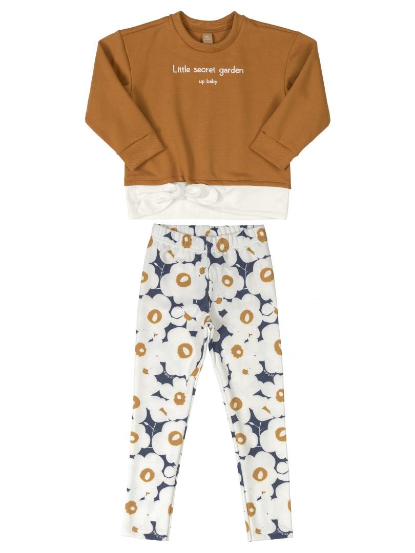 Conjunto Infantil Blusão e Calça em Molecotton Marrom Sudão Up Baby