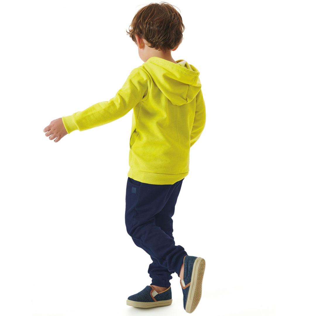 Conjunto Infantil Jaqueta com Capuz e Calça Cool Kid Amarelo Acid Up Baby