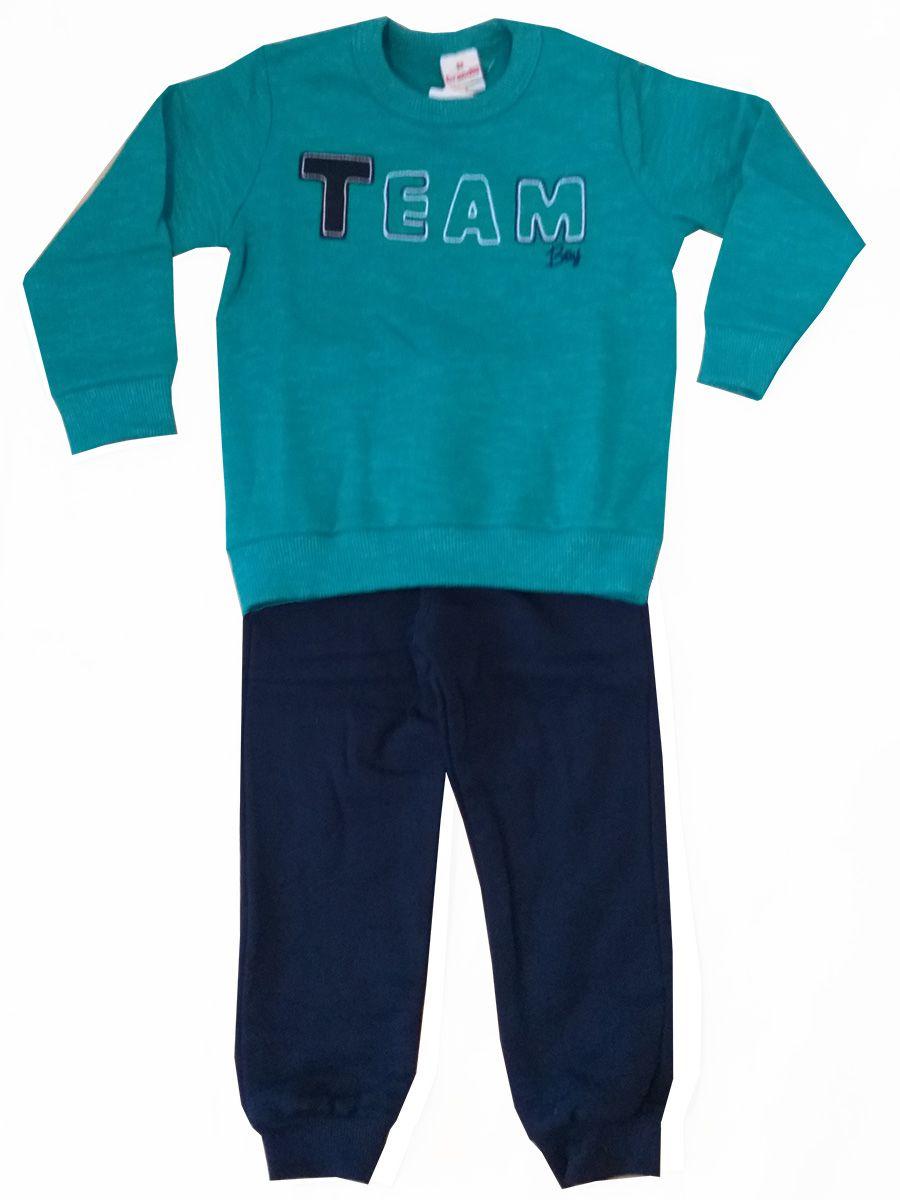 Conjunto Infantil Moletom Team Boy Verde Brandili