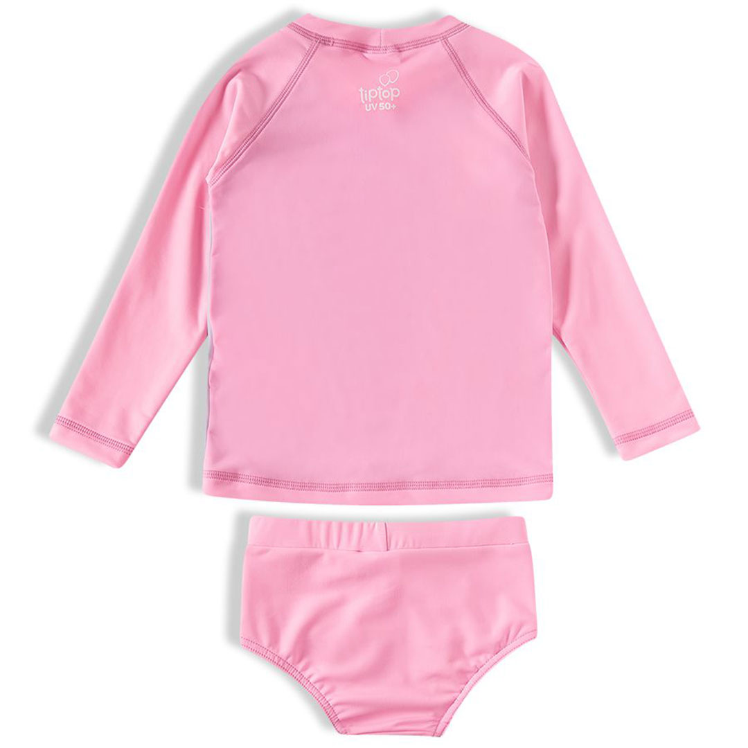 Conjunto Praia Infantil Abacaxis Rosa Tip Top