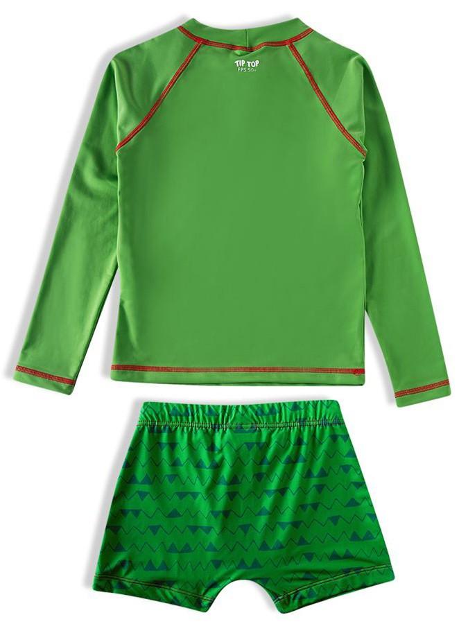 Conjunto Praia Infantil Camiseta e Shorts Jacaré Verde Tip Top