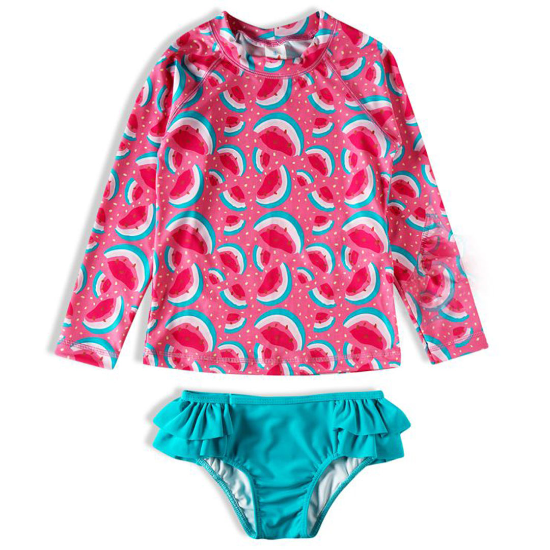 Conjunto Praia Infantil Melancias Rosa Tip Top