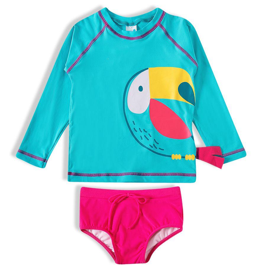 Conjunto Praia Infantil Tucanos Turquesa Tip Top
