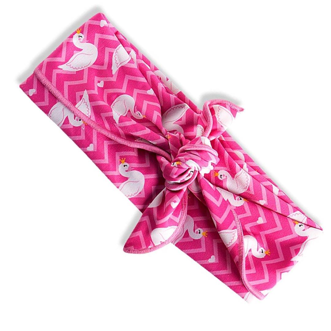 Faixa de Cabeça Infantil Cisnes Rosa Tip Top