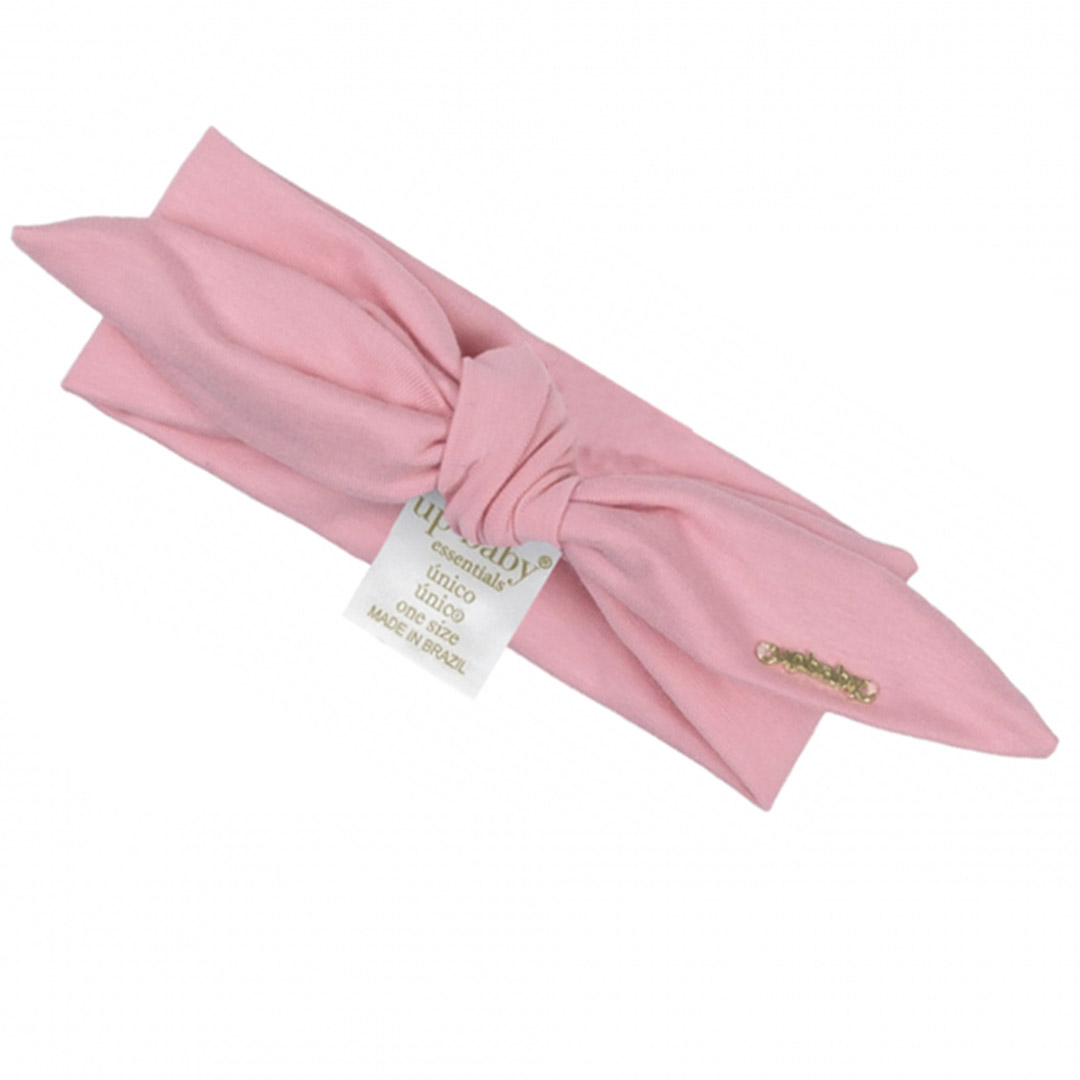Faixa de Cabeça Infantil em Cotton Rosa Blush Up Baby
