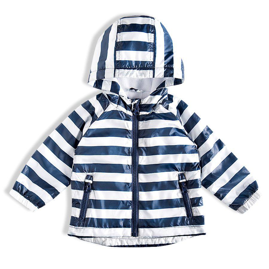 Jaqueta Infantil com Capuz Listrada Branco Tip Top