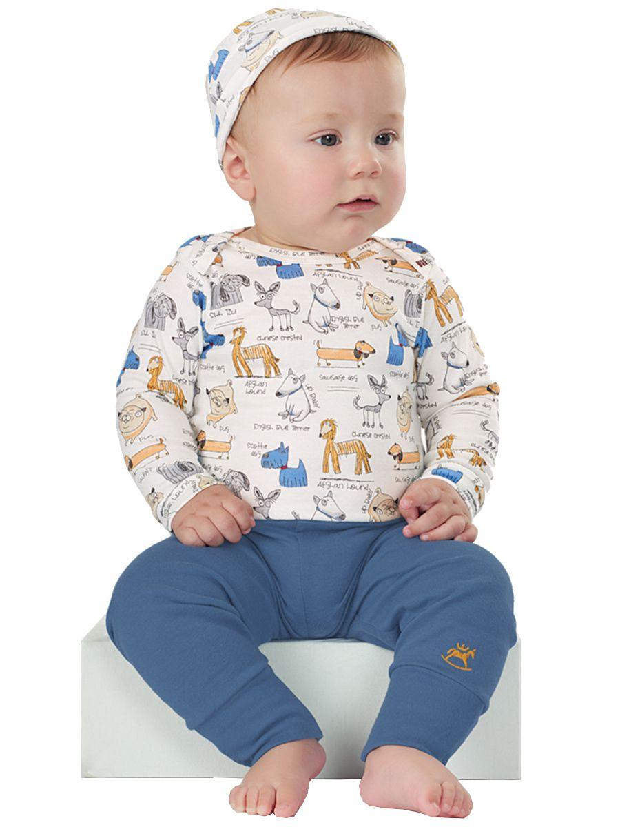 Kit Body Bebê Manga Longa, Calça e Touca Cachorrinhos Up Baby