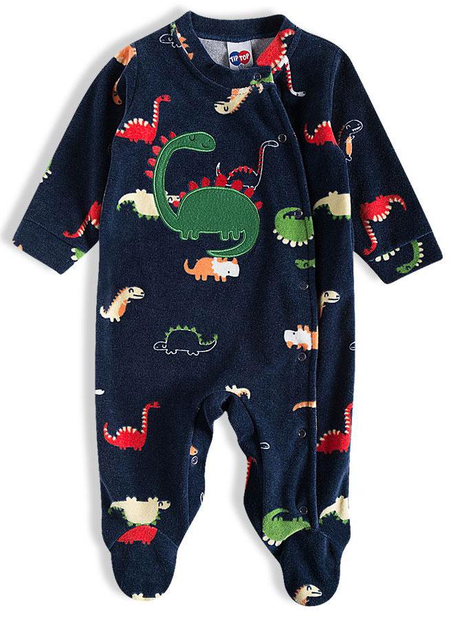 Macacão Bebê Plush Dino Marinho Tip Top