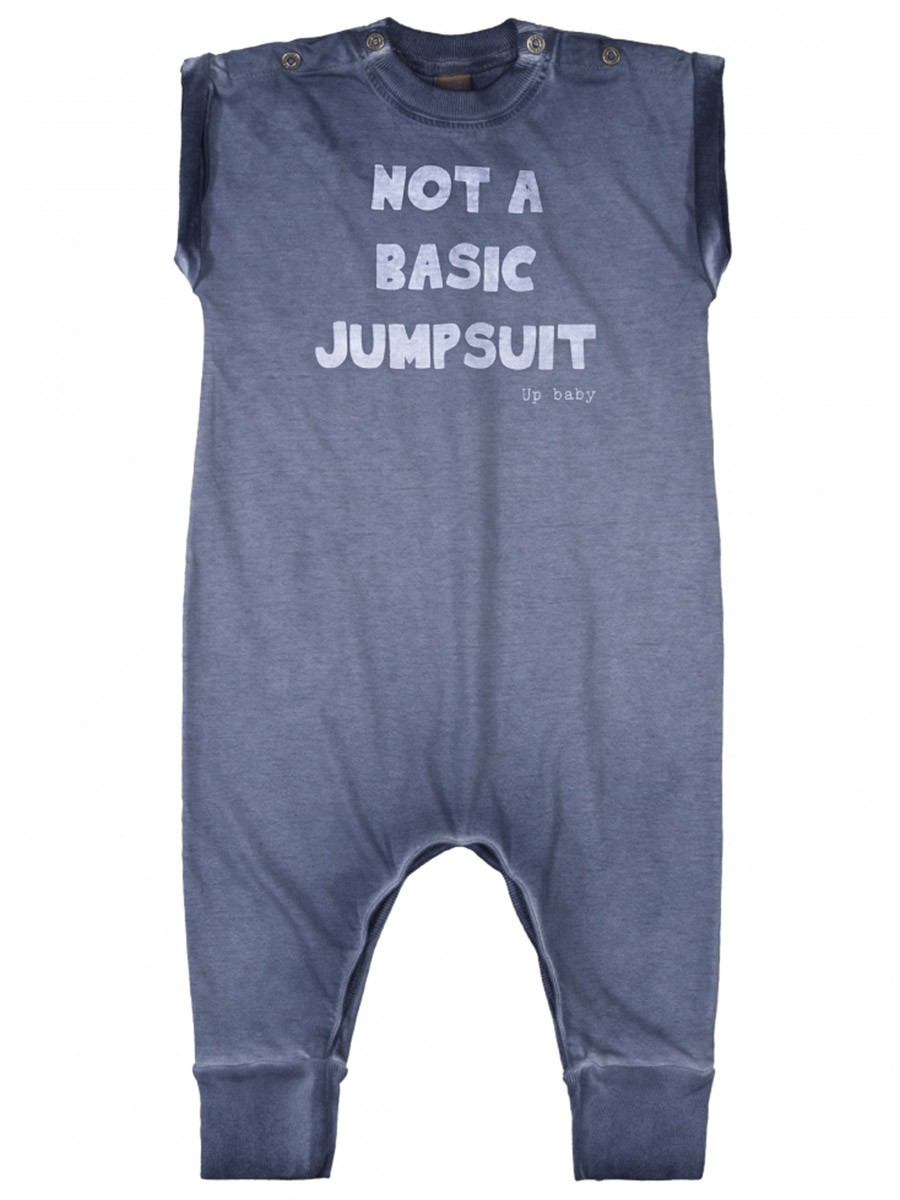 Macacão Infantil Not a Basic Jumpsuite Azul Up Baby