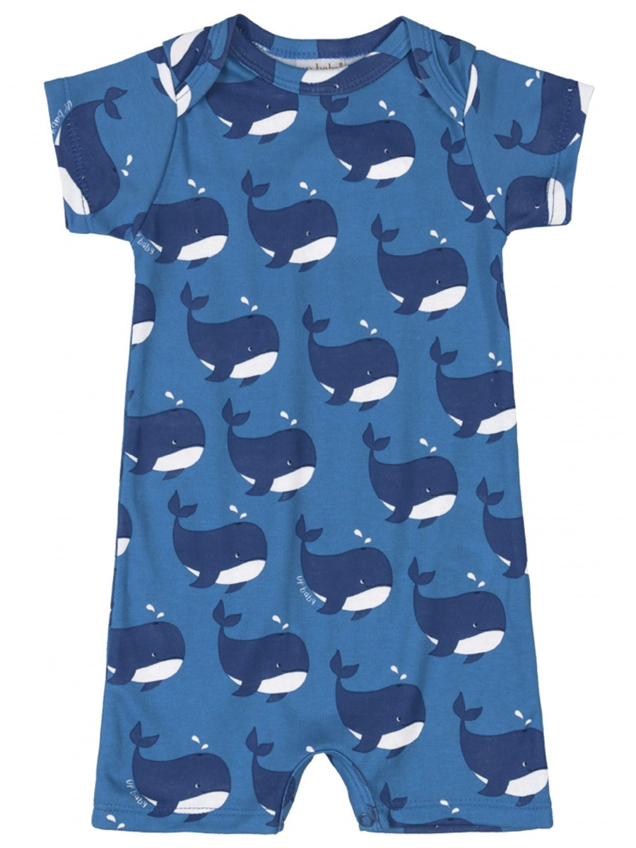 Macaquinho Bebê Baleias Azul Up Baby