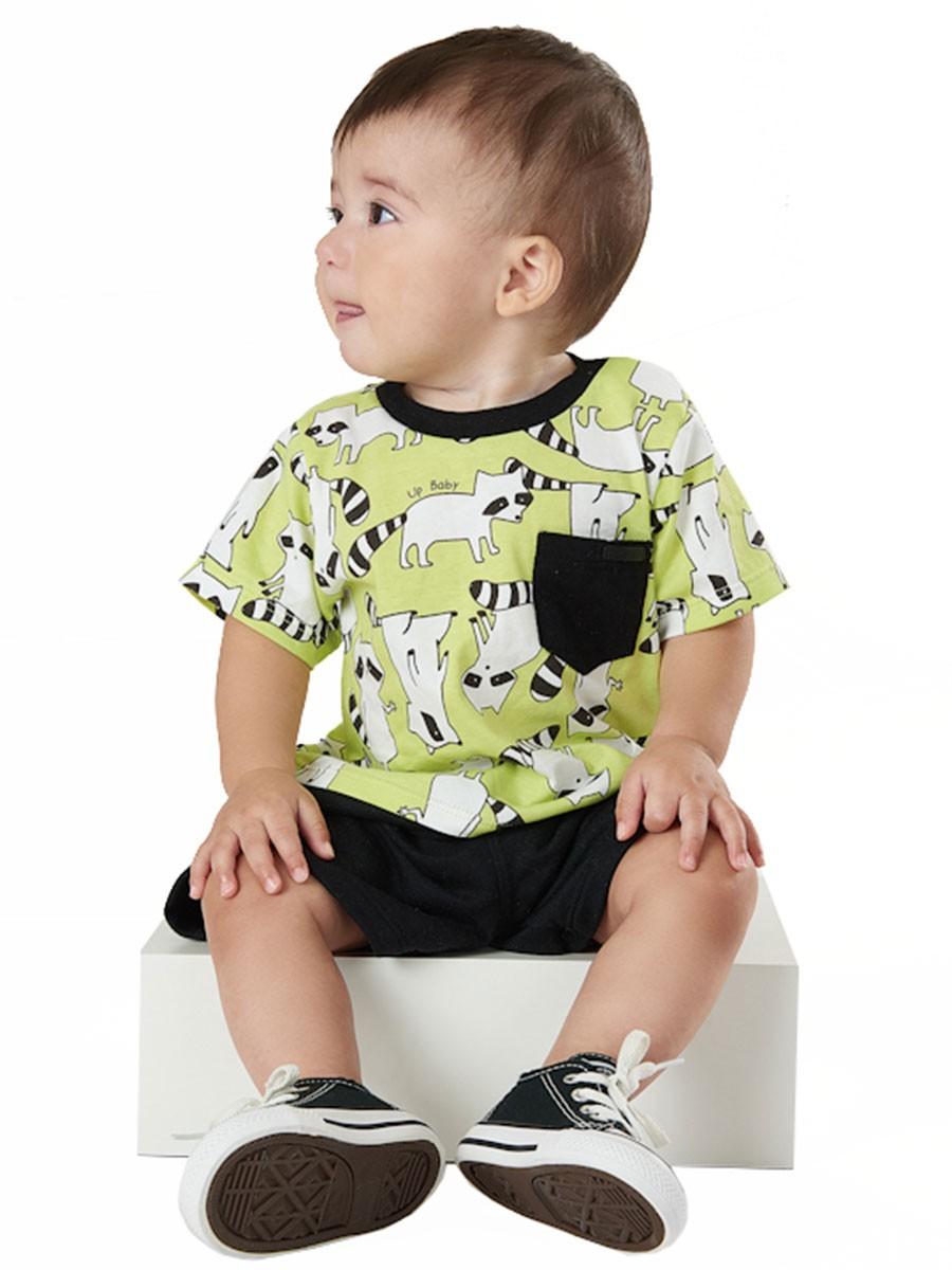 Macaquinho Bebê Guaxinim Verde Limão Up Baby