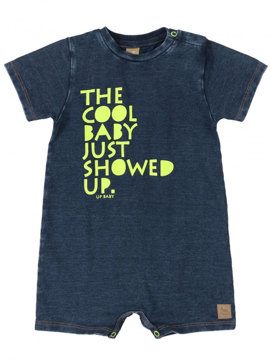 Macaquinho Bebê Malha Índigo Azul Up Baby