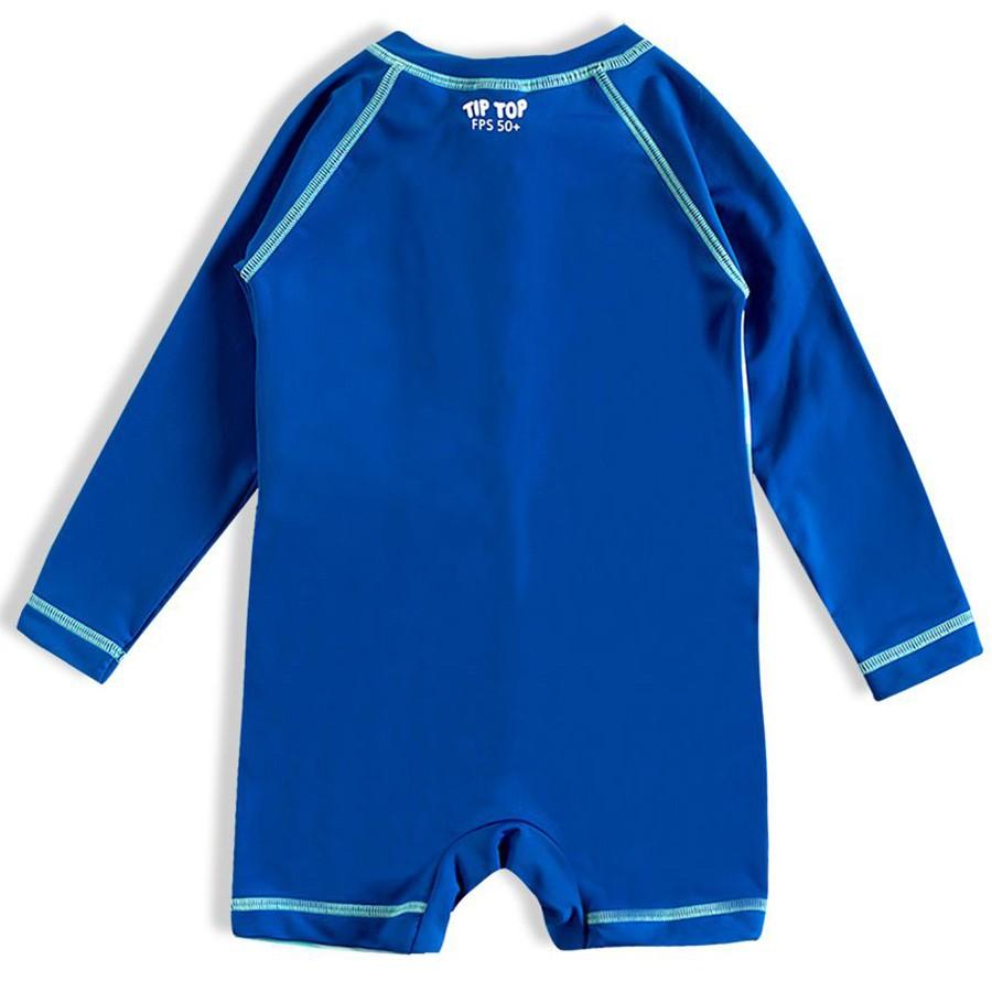Macaquinho Praia Infantil Astrodino Azul Tip Top