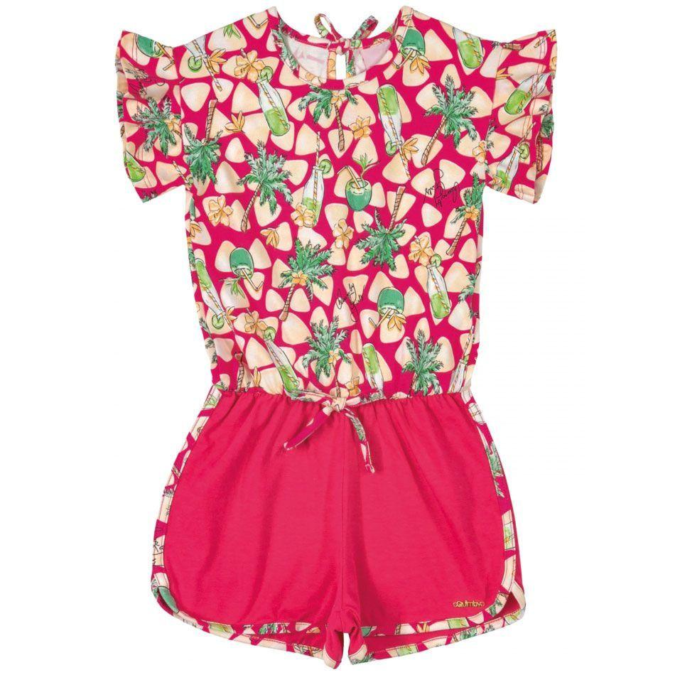 Macaquinho Infantil Pink Quimby