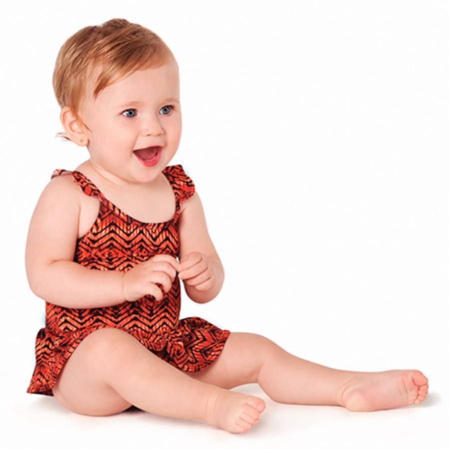 Maiô Bebê Tribal Laranja Tip Top