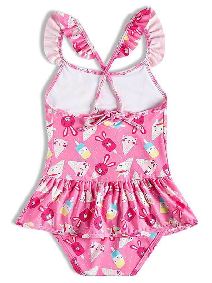 Maiô Bebê Unicórnios Rosa Tip Top