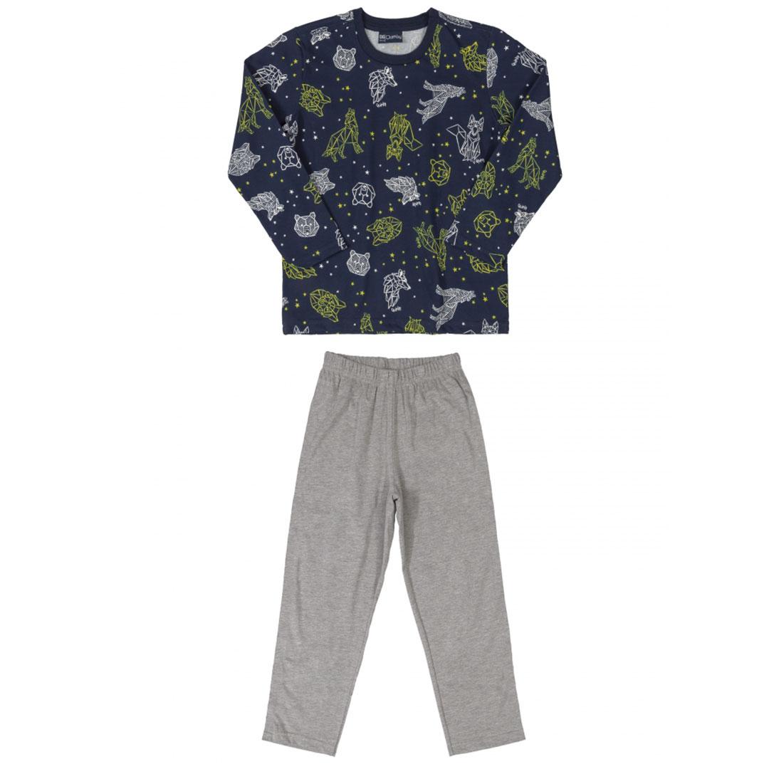 Pijama Infantil Camiseta e Calça Constelação Marinho Quimby