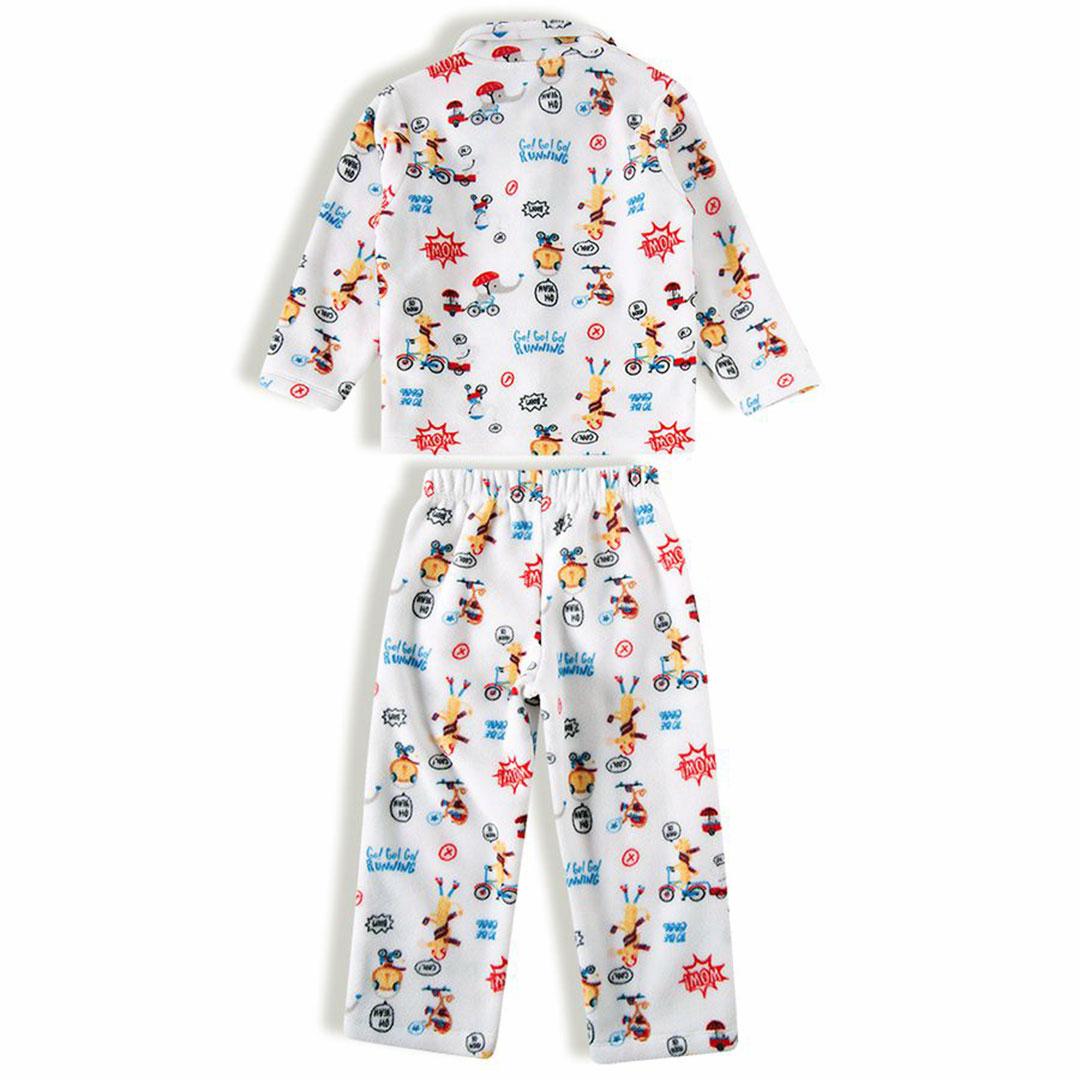 Pijama Infantil Longo Soft Cartoon Off White Tip Top