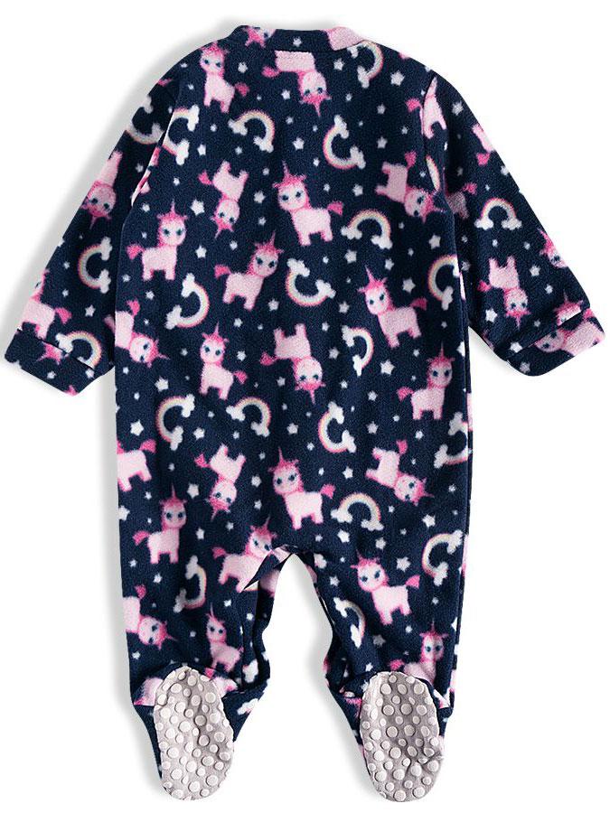 Pijama Macacão Bebê Soft Unicórnios Marinho Tip Top