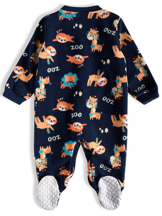 Pijama Macacão Bebê Soft Zoo Marinho Tip Top