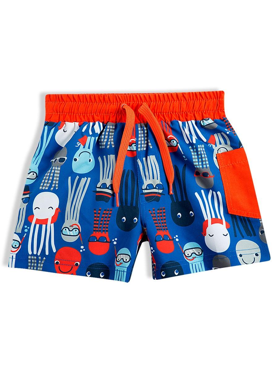 Shorts Infantil em Tactel Polvo Azul Tip Top