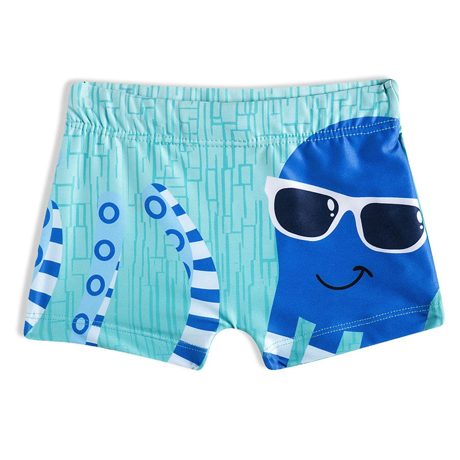 Shorts Praia Bebê Polvo Turquesa Tip Top