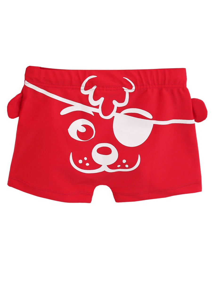 Shorts Praia Infantil Cachorrinho Pirata Vermelho Tip Top