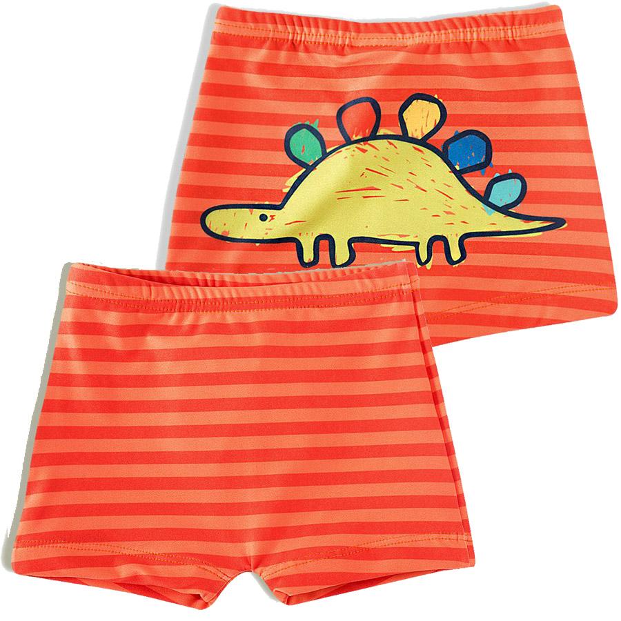 Shorts Praia Infantil Dino Rabisco Laranja Tip Top
