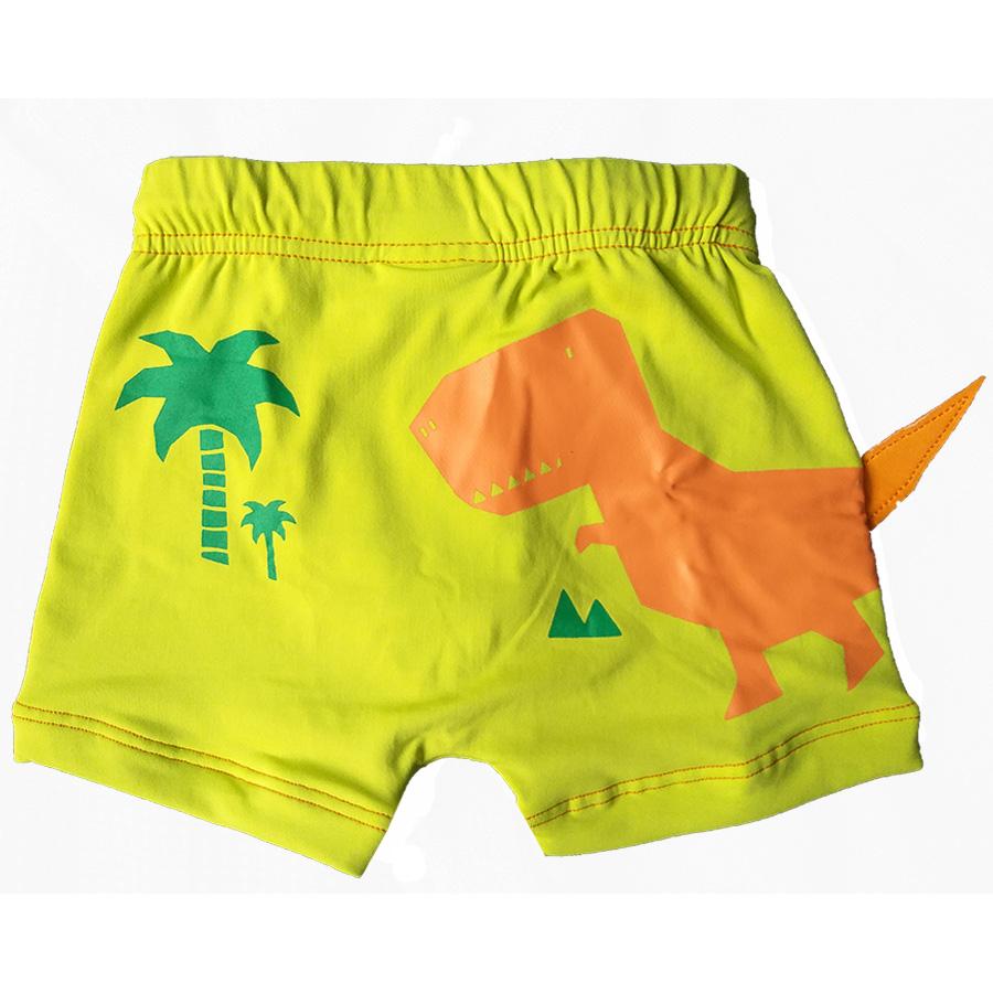 Shorts Praia Infantil Dino Verde Limão Tip Top