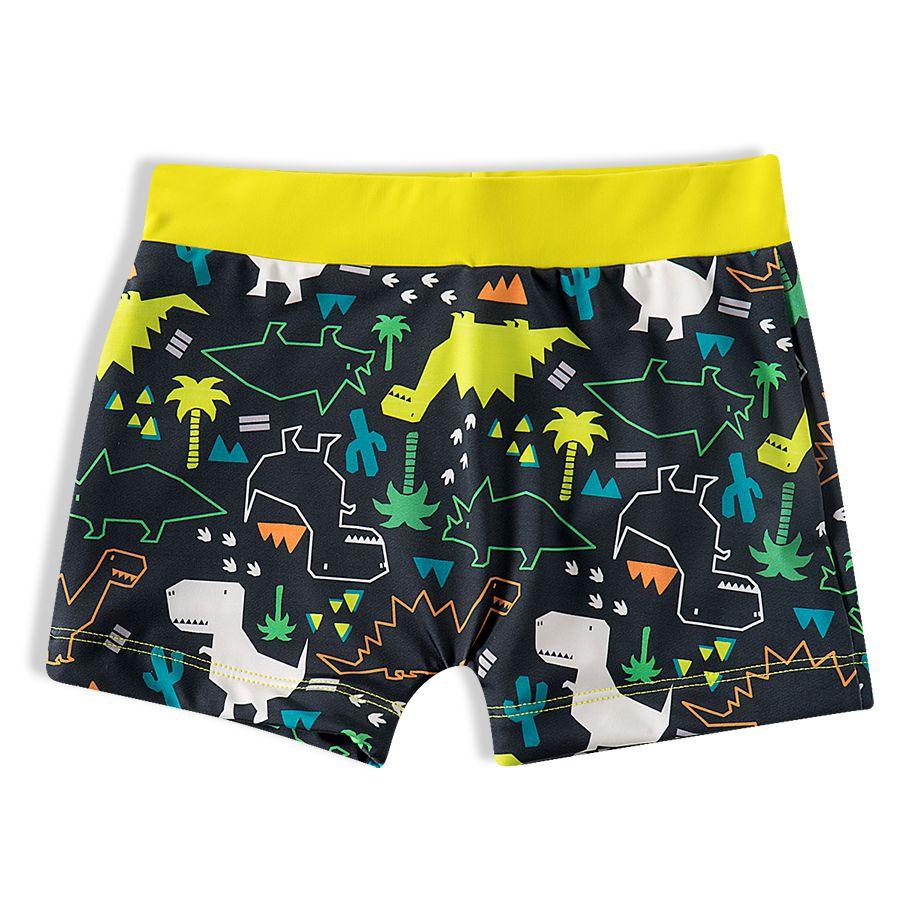 Shorts Praia Infantil Dinos Cinza Tip Top