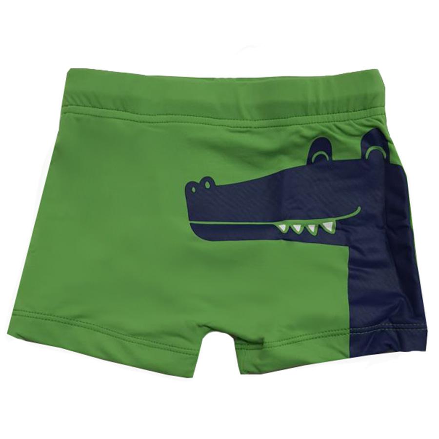 Shorts Praia Infantil Jacaré Verde e Azul Tip Top
