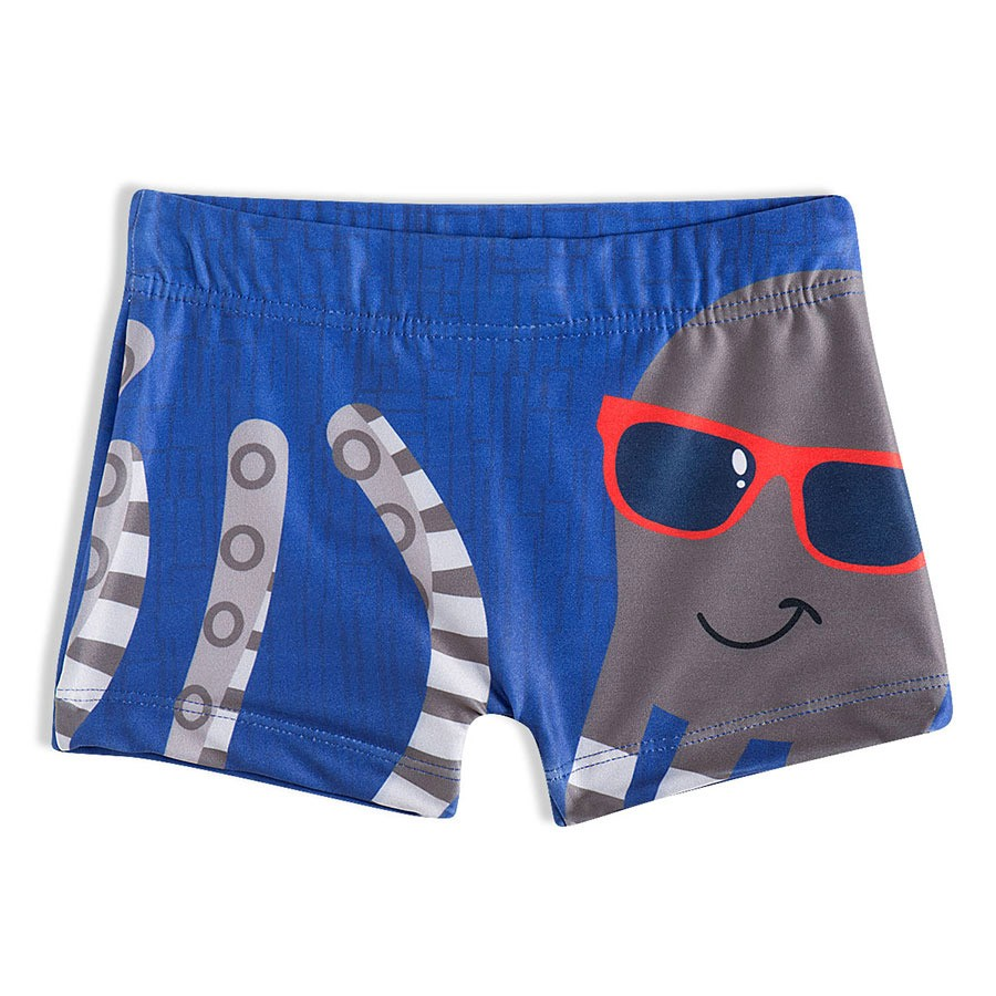 Shorts Praia Infantil Polvo Azul Tip Top