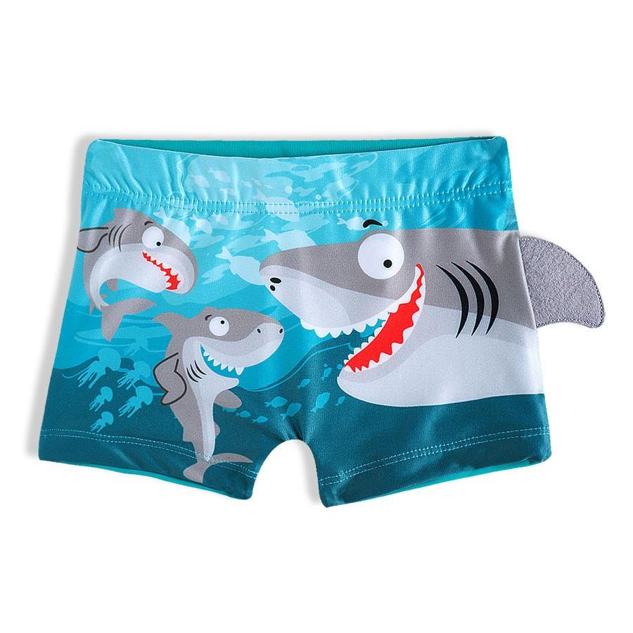 Shorts Praia Infantil Tubarão Turquesa Tip Top