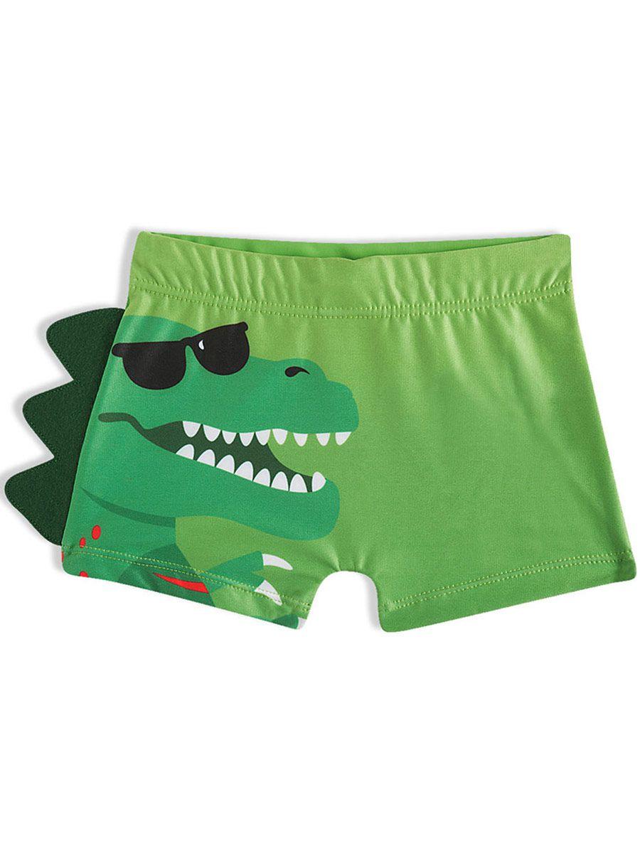 Shorts Praia Infantil Dino Verde Tip Top