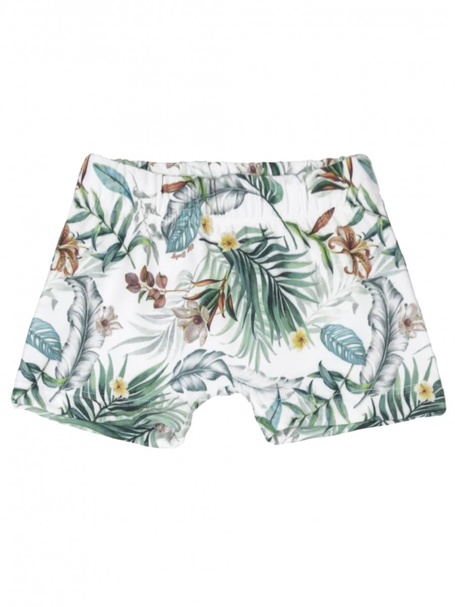 Shorts Praia Infantil Tropical Branco Up Baby