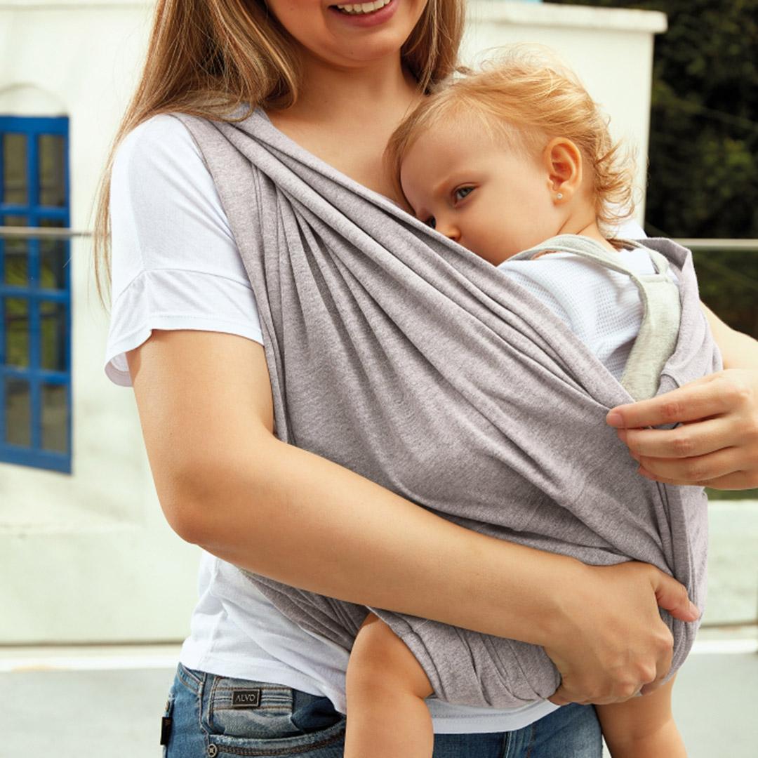 Sling Bebê Preto Pati Nicki Up Baby