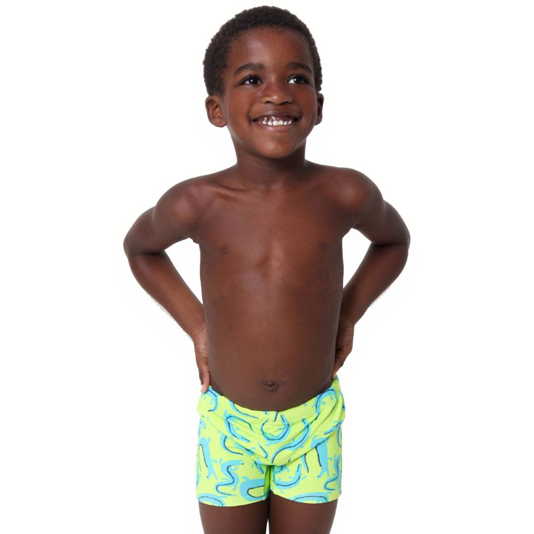 Sunga Boxer Infantil Jacaré Verde Pipa