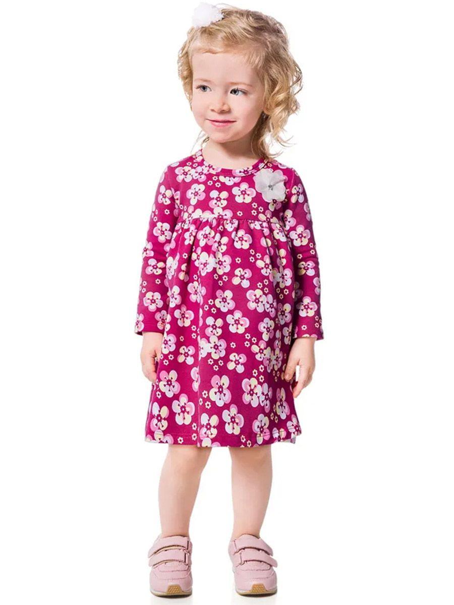 Vestido Infantil Manga Longa Florido Pink Kyly