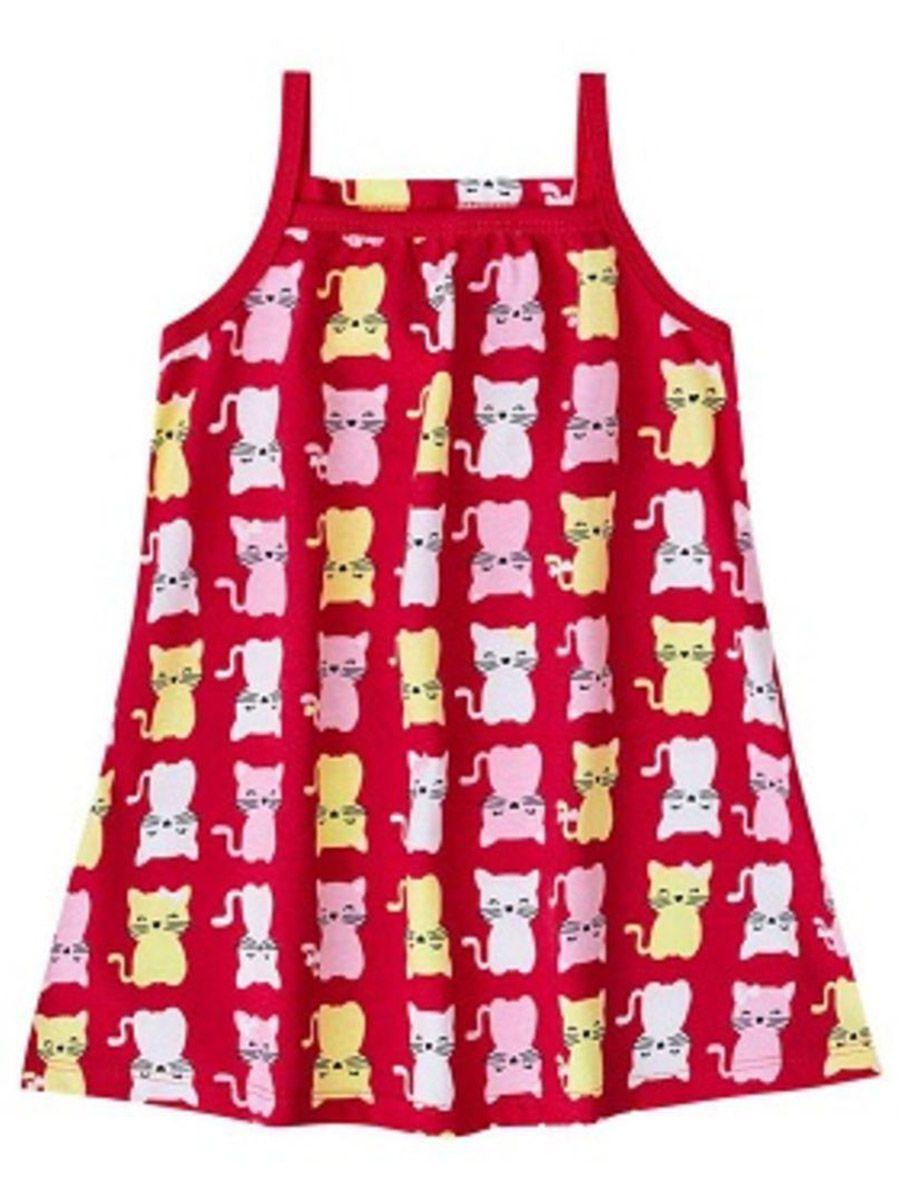 Vestido Infantil Gatinhos Vermelho Kyly