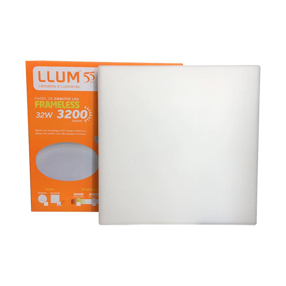 Kit 3 Plafon De Led Frameless Embutir Quadrada 32w 6500k - Llum
