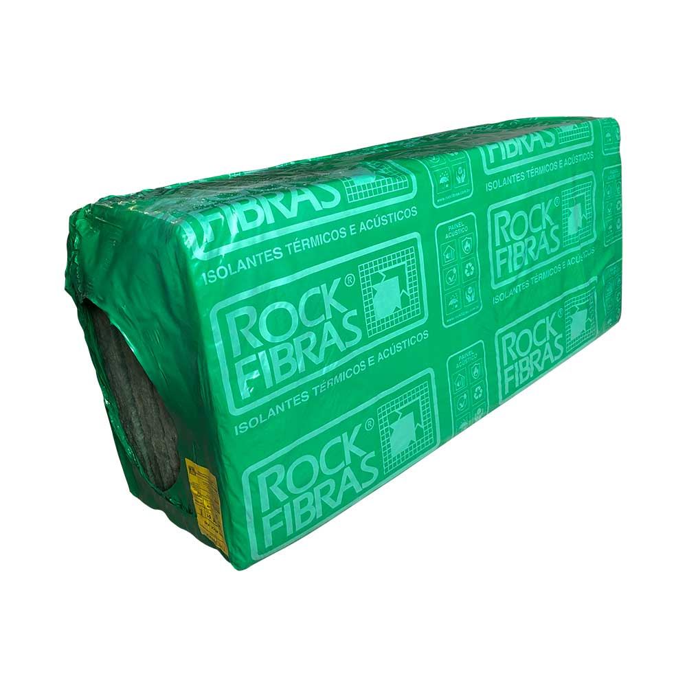 Lã de rocha 1350x600x51mm pacote 6,48M² - Rockfibras