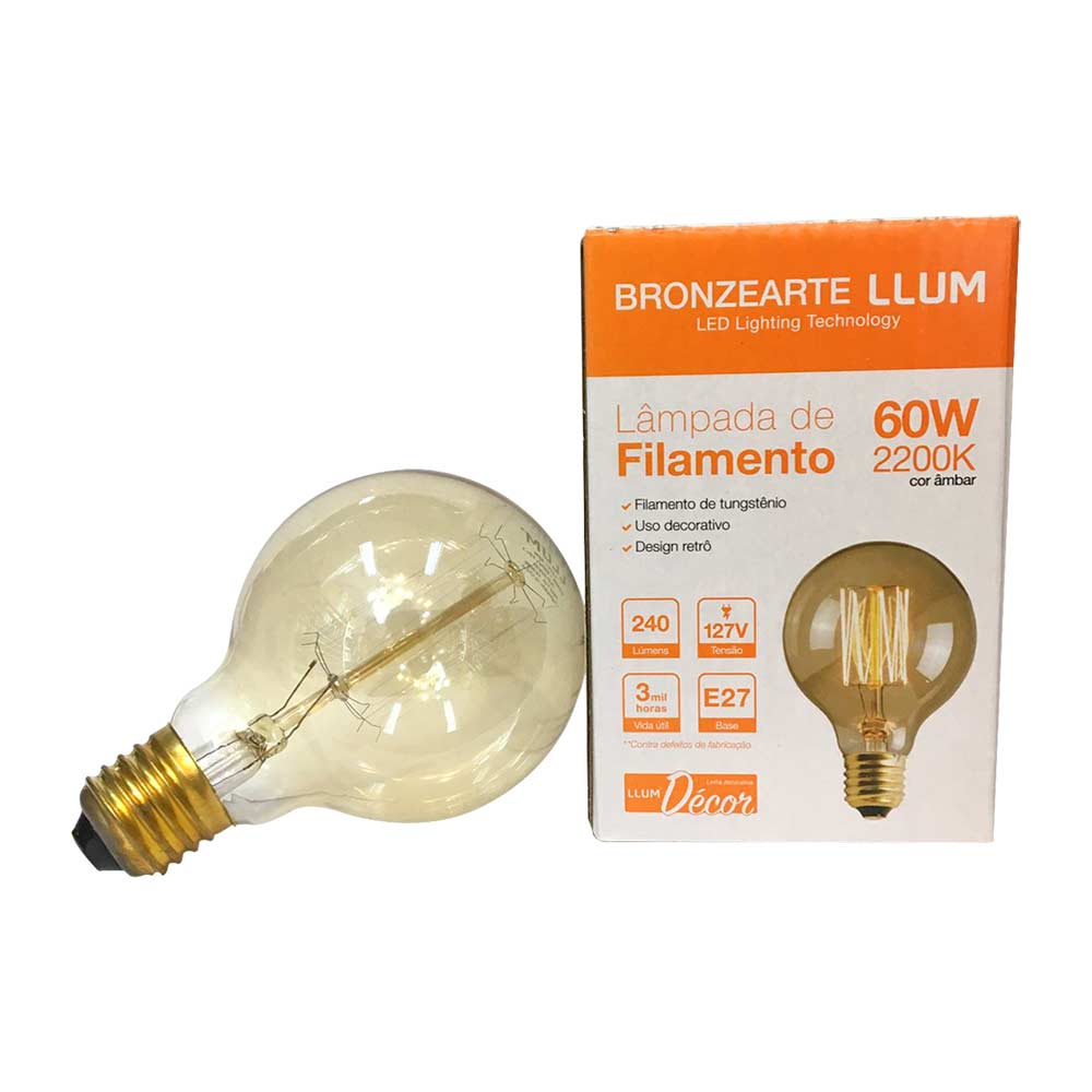Lâmpada de filamento tungs 60w 110v 2200k - Llum