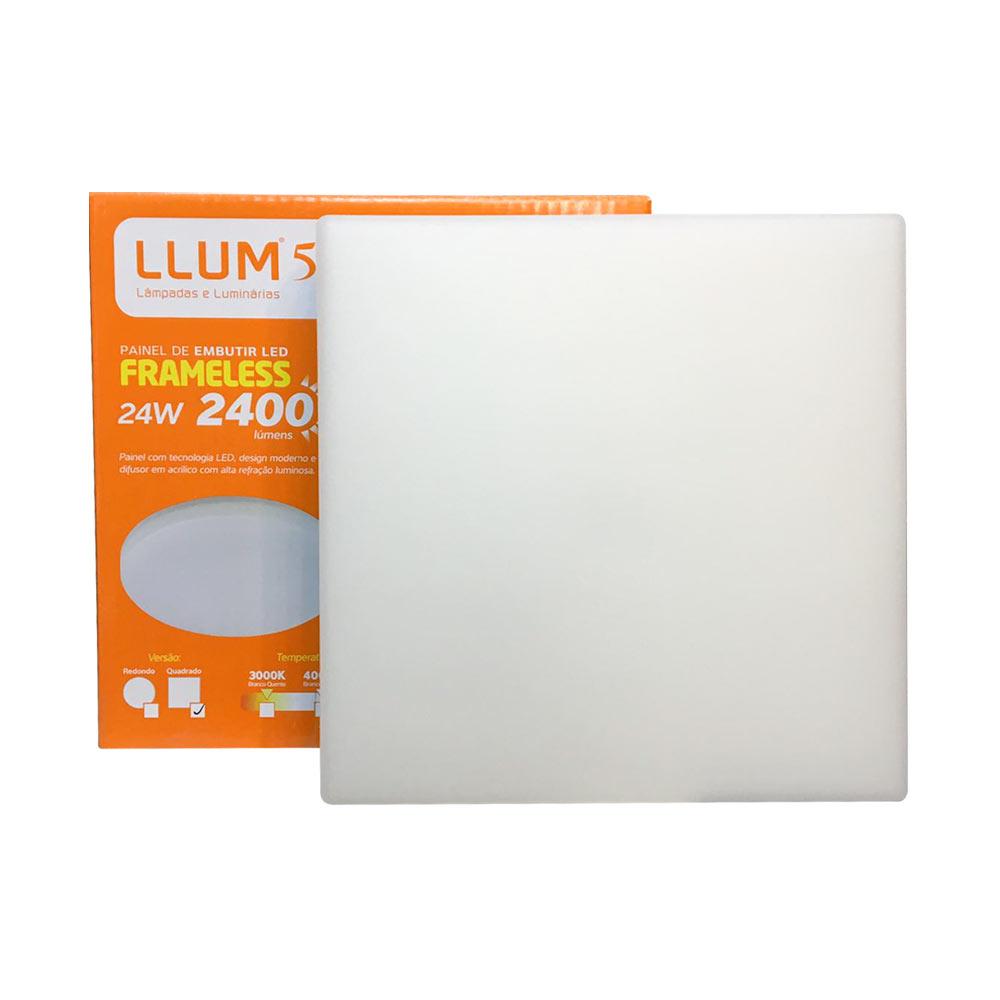 Painel led embutir quadrado 24w Frameless 6500k - Llum