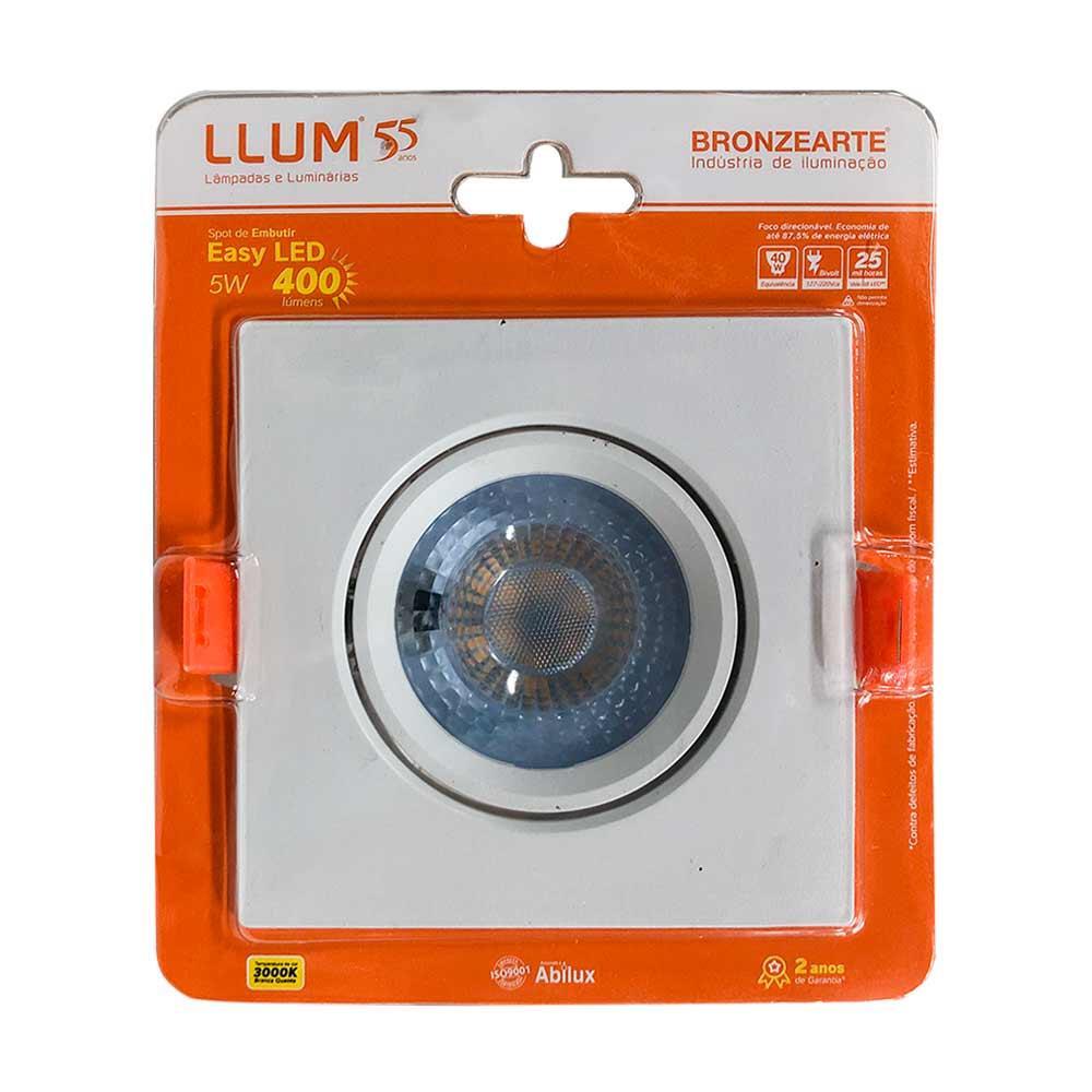 Spot led 5w 3000k quadrado - Llum